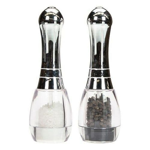 Chrome Skittle - Salt and Pepper Mill Set by David Mason Design